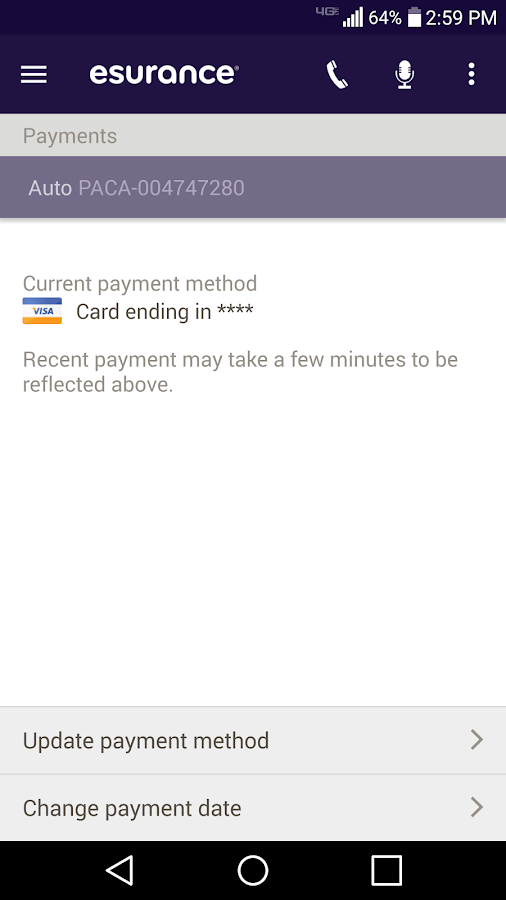 Esurance Mobile- screenshot