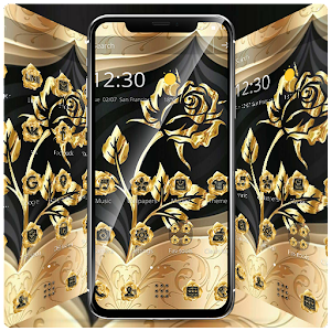 Gold Rose Extravagant Business Theme for PC