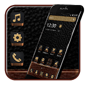 Black Brown Leather Theme Android APK Download Free By Fancy Theme Palace