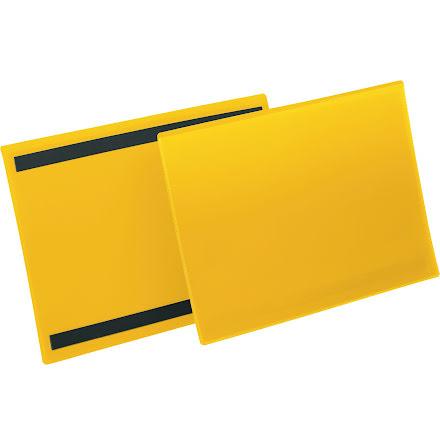 Plastficka A4L magnetisk gul