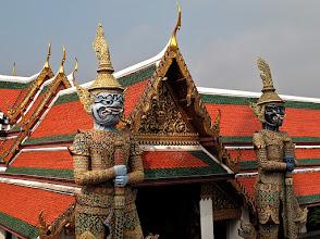 Photo: giants guarding a gate, Wat Phra Kaew (Temple of the Emerald Buddha)