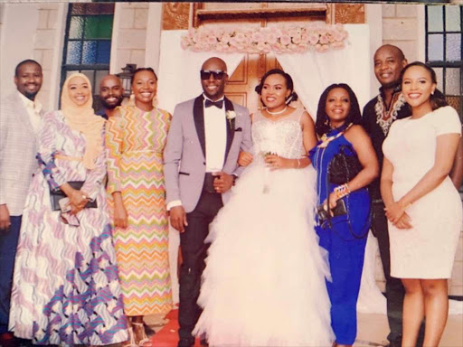 Media personality Dennis Okari and Naomi Joy's wedding on Friday. /COURTESY