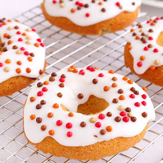 Iced Pumpkin Donuts Recipe