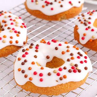 Iced Pumpkin Donuts.