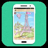 Cute Paris Theme for BBM