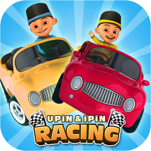 Upin and Pin Balap Mobil