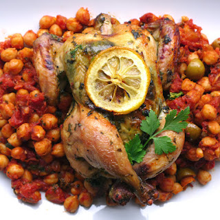 Chermoula Chicken with Fiery Chickpeas.