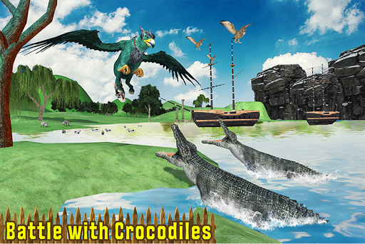 Wild Griffin Family Flying Eagle Simulator androidiapk screenshots 1