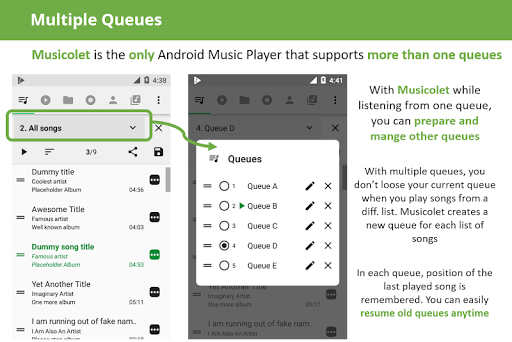 Musicolet Music Player [Free, No ads] 4.1 build157 screenshots 2
