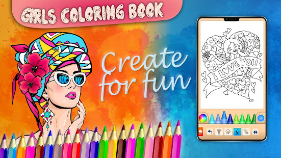 App Girls games: Painting and coloring APK for Windows Phone