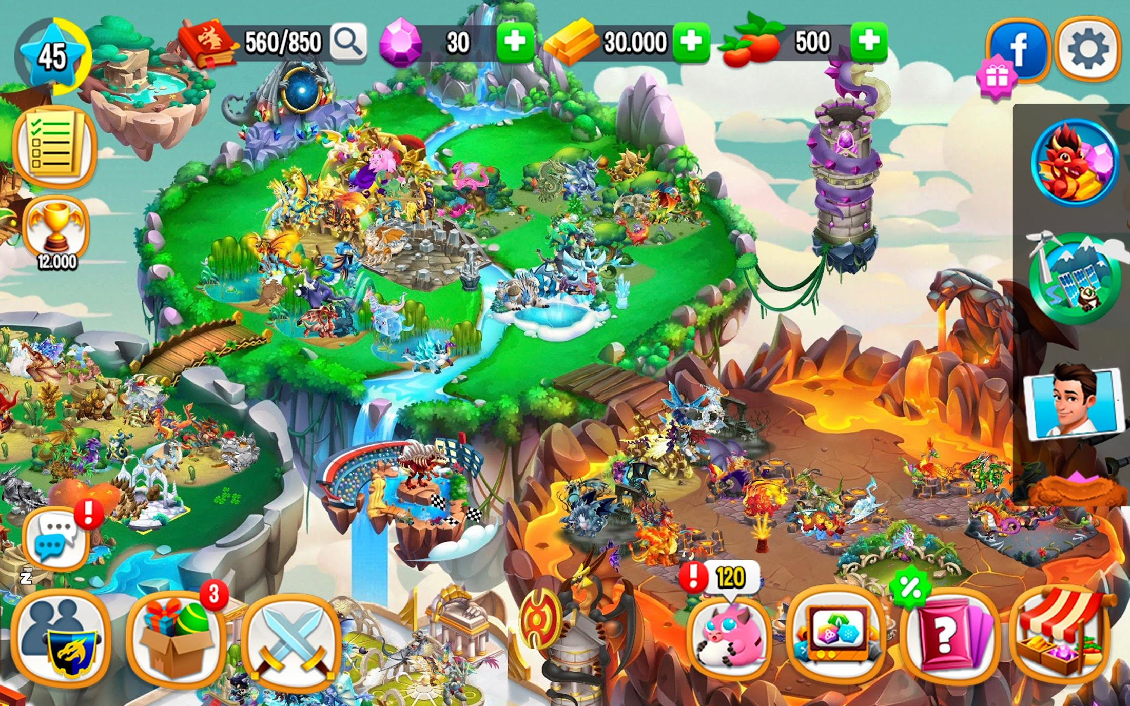 Dragon City Mod Apk (Unlimited Money/Food) Unlimited Everything 3