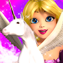 Princess Unicorn Sky World Run icon