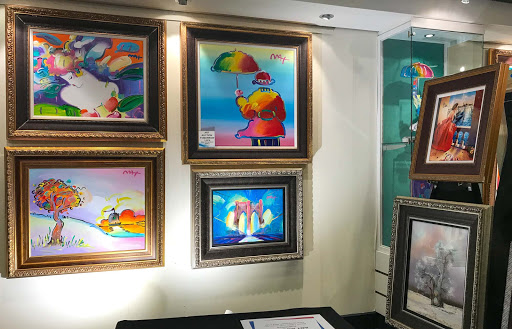 Art-gallery-works.jpg - Peter Max is among the artists highlighted in the Art Gallery aboard Norwegian Jade.