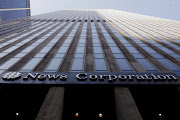 The News Corporation logo is displayed on the side of a building in midtown Manhattan in New York, U.S.