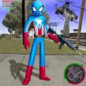 US Spider Capitaine Stickman Rope Hero City Mafia icon