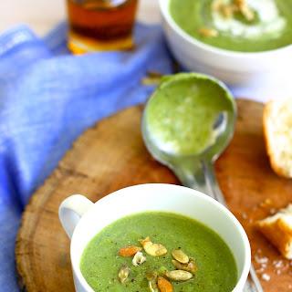 Broccoli and Mushroom Soup .