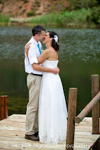 Photo: Sealed with a kiss on the jetty of the reserves bass dam.