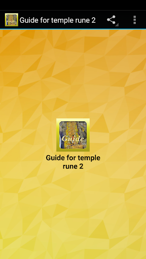 Guide for temple rune 2