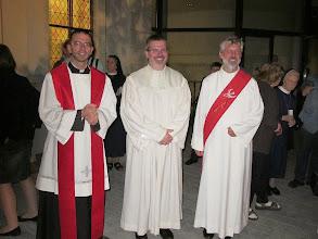 Photo: Pfarrer Markus Beranek (kath.), Pfarrer Christian Brost (evang.) und Diakon Wolfagng Stark (kath.)