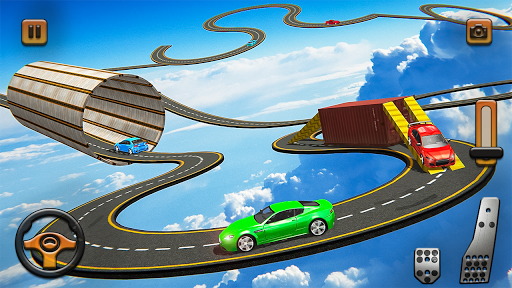 Impossible Tracks Car Mountain Climb Stunts Racing screenshot 7