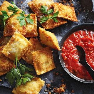 Crisp-fried Cheese Ravioli.