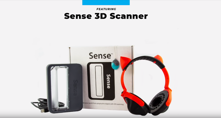 The Sense 3D Scanner and some scaled and printed designs.