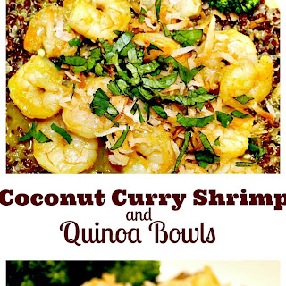 Coconut Curry Shrimp and Quinoa Bowls