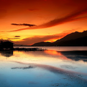 sunset time by Edwin Yepese - Landscapes Sunsets & Sunrises ( background, landscapes, sunsets & sunrises )