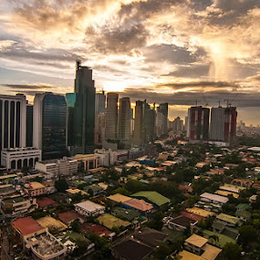 Makati by Kevin Codamon - City,  Street & Park  Skylines ( skyline, afternoon, kiven, pinoy, philippines, makati, city )