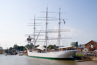 Photo: The beautiful ship permanently located in Turku, Suomen Joutsen (Swan of Finland)