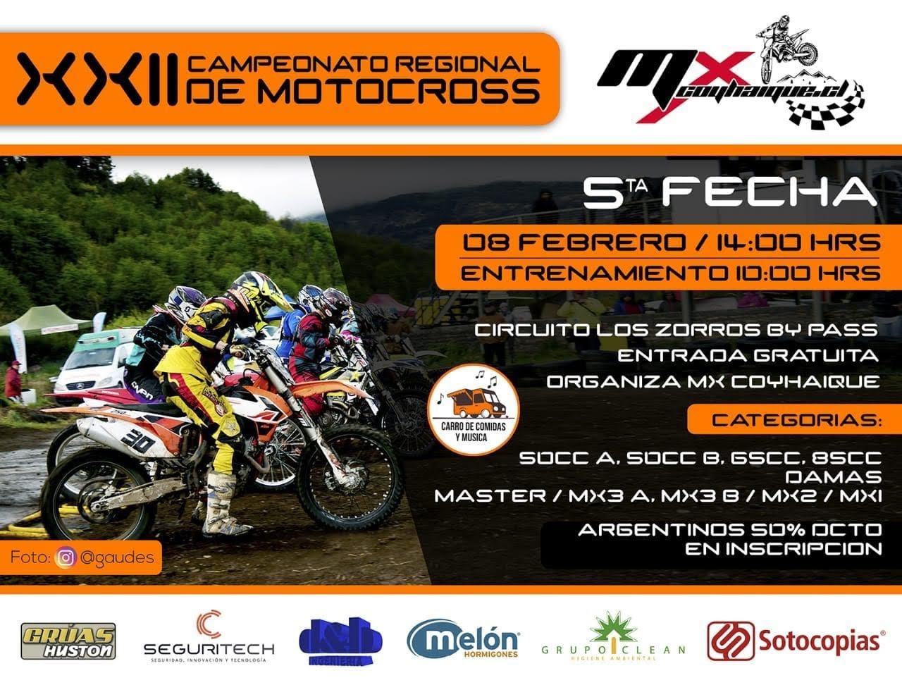 5º a fondo en el Regional de Motocross de Chile