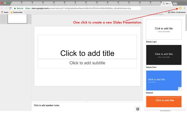 Create a Google Slides Presentation