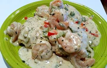 ~ Savory Creamy Shrimp Over Biscuits  Or Pasta ~