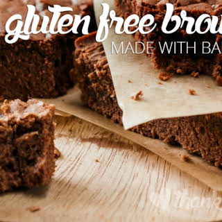 Gluten Free Brownies Made with Banana Flour.