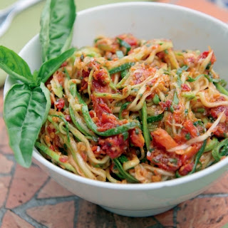 Zucchini Noodles with Sun-dried Tomato Pesto