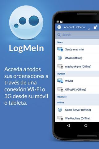 LogMeIn: captura de pantalla