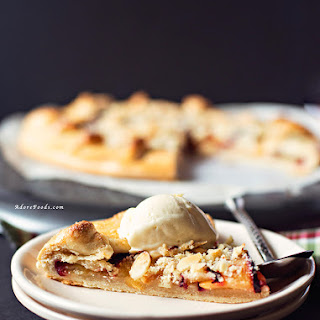 Plum Galette with Almond Streusel Topping