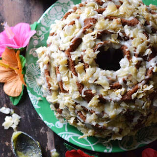 Golden Tropical Coconut Bundt Cake