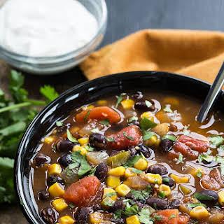 Black Bean, Corn and Tomato Soup.