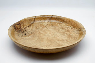 "Photo: #08 - Richard Webster - Shallow Bowl - 12"" x 2"" - Spalted Mango"