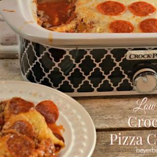 Low Carb Crock Pot Pizza Casserole.