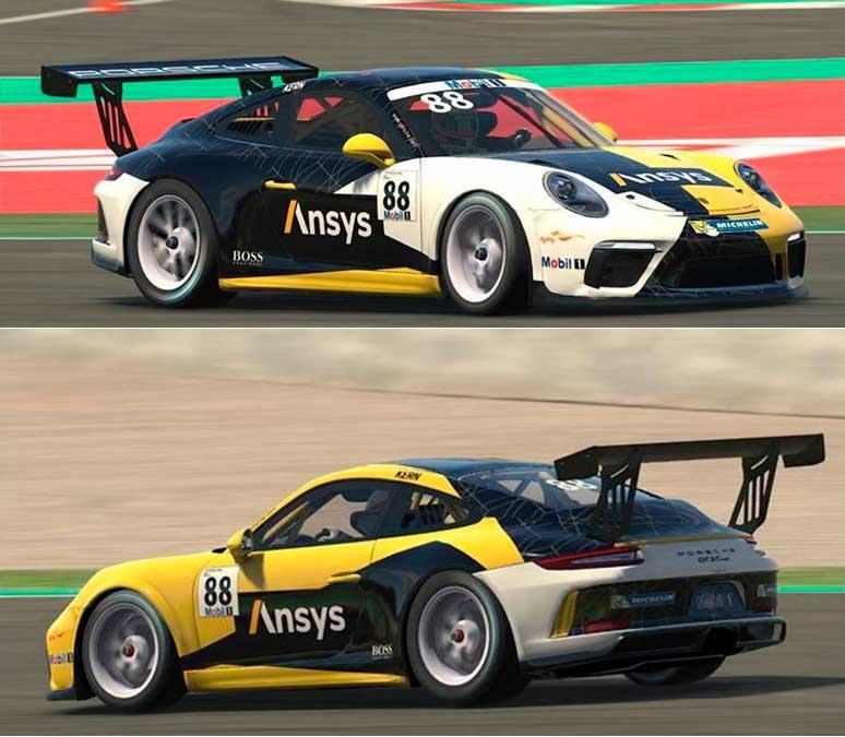 ANSYS Болид компании ANSYS под управлением Ларса Керна на соревнованиях Porsche Mobil 1 Supercup