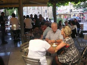 Photo: Im Gartenrestaurant!