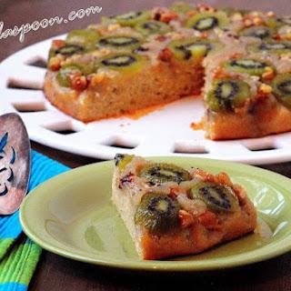 Kiwi and Walnut Upside Down Cake Recipe