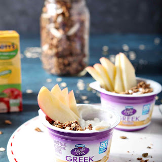 Apple Chai Spiced Yogurt Parfaits.