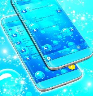 Bubbles SMS téma zdarma 2017 - náhled
