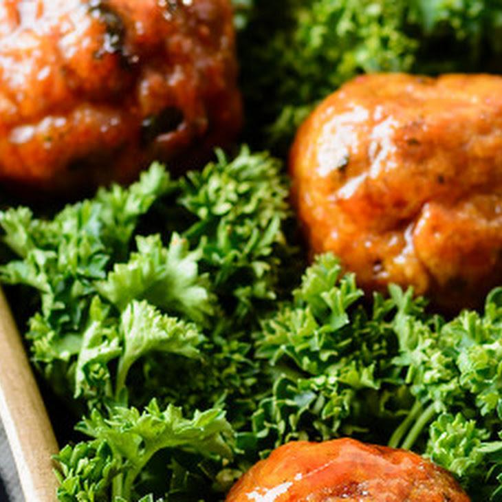 Baked Turkey Meatballs with Spicy Brown Sugar Glaze Recipe | Yummly