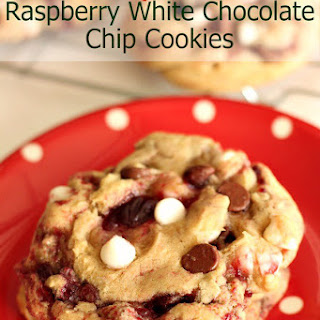Disneyland's Raspberry White Chocolate Chip Cookies