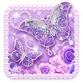 Purple Diamond Butterfly Live Wallpaper