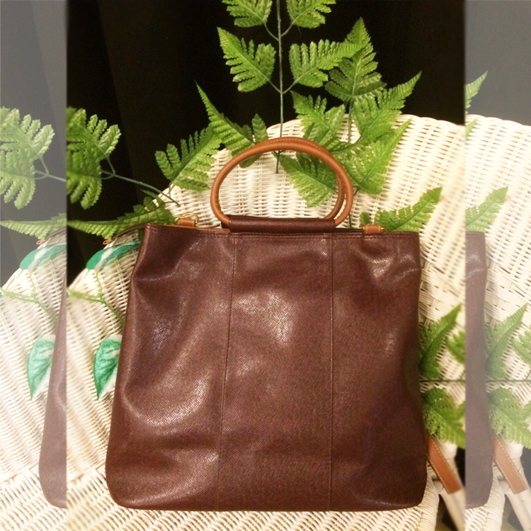 Classic Sling tote in Dark Brown by Le Tea Boutique